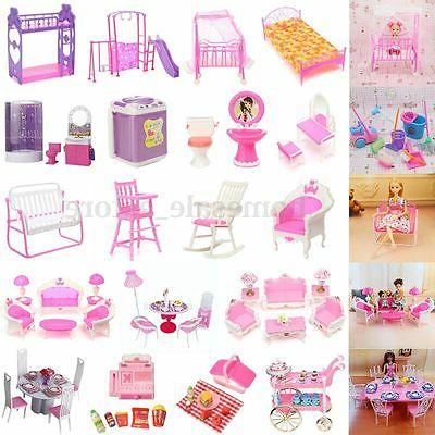 Dollhouse Miniature Furniture Accessories For Barbie Bathroo