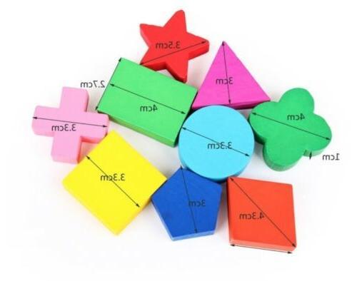 Educational Geometry Wood Toys
