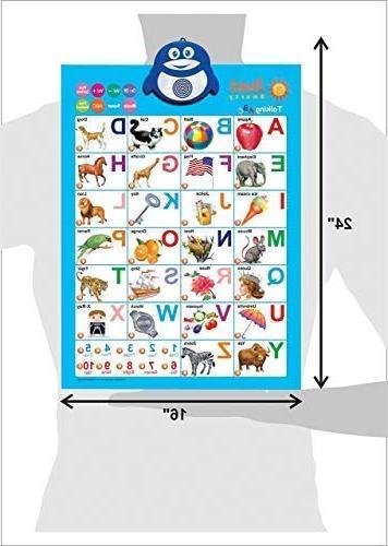 Just Electronic Alphabet Wall ABC & & Music Best Toy Fun at Preschool, Kindergarten & Girls