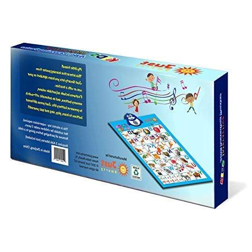 Just Electronic Alphabet Chart, ABC Music Toy Toddler. Fun Learning at Daycare, &