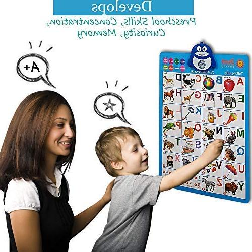 Just Alphabet Wall Chart, ABC & 123s & Music Best Toy Fun Preschool, Kindergarten for &