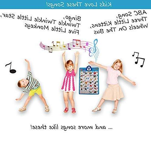 Just Electronic Interactive Alphabet Chart, Talking ABC Music Best Toy for Kids Fun at Daycare, Preschool, Kindergarten for Boys & Girls