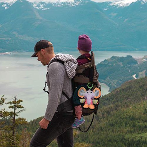 JAMSWALL Plush Pull String Sensory Baby Stroller Hanging Toy, Fun Musical Rattle Plush Animal Pull Bell Sensory Toy, Toddler