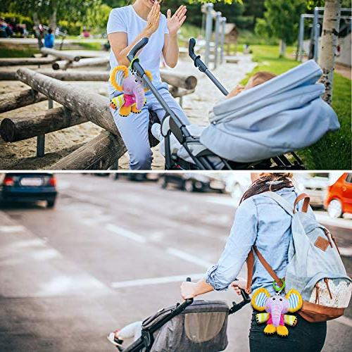 Plush Infant Toys, String Sensory Baby Stroller Fun Rattle Plush Pull Bell Sensory Toy, Infant Toddler Boys