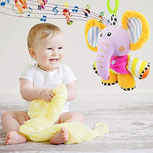 Plush Infant Pull String Sensory Toy, Baby Toy, Fun Musical Plush Bell Sensory for Infant Toddler Gift