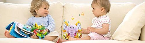 JAMSWALL Plush Infant String Musical Baby Stroller Fun Rattle Toy, Plush Sensory Toddler Boys Gift