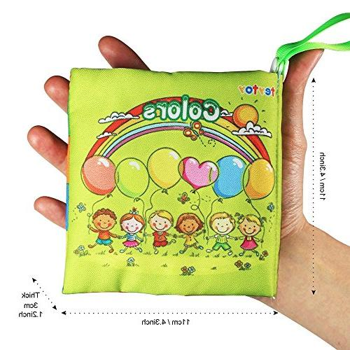 teytoy Book, Fabric Baby Cloth Books Early Education Toys Crinkle Cloth Toddler, Infants and Perfect for Shower