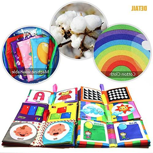 teytoy First Soft Book, PCS Fabric Cloth Books Early Education Toys Crinkle Cloth Toddler, and Kids Perfect
