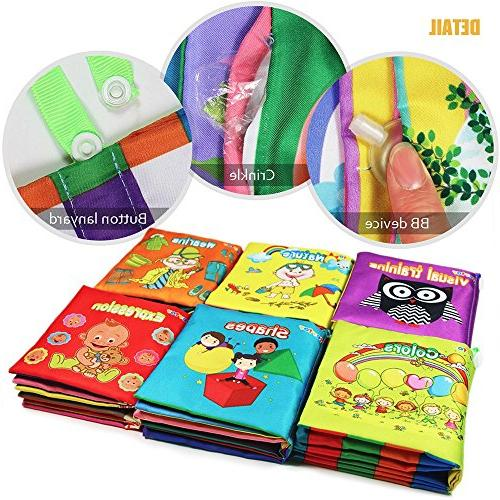 teytoy Soft Book, Fabric Baby Cloth Books Early Toys Toddler, Perfect for
