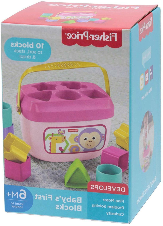 fisher price babys first blocks plastic toy