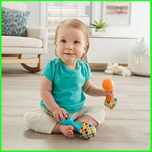Fisher-Price Rattle'n Maracas, Blue/Orange Baby Toys fast
