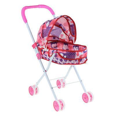 foldable simulation pushchair stroller buggy pram pretend