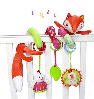 fox plush spiral activity toy