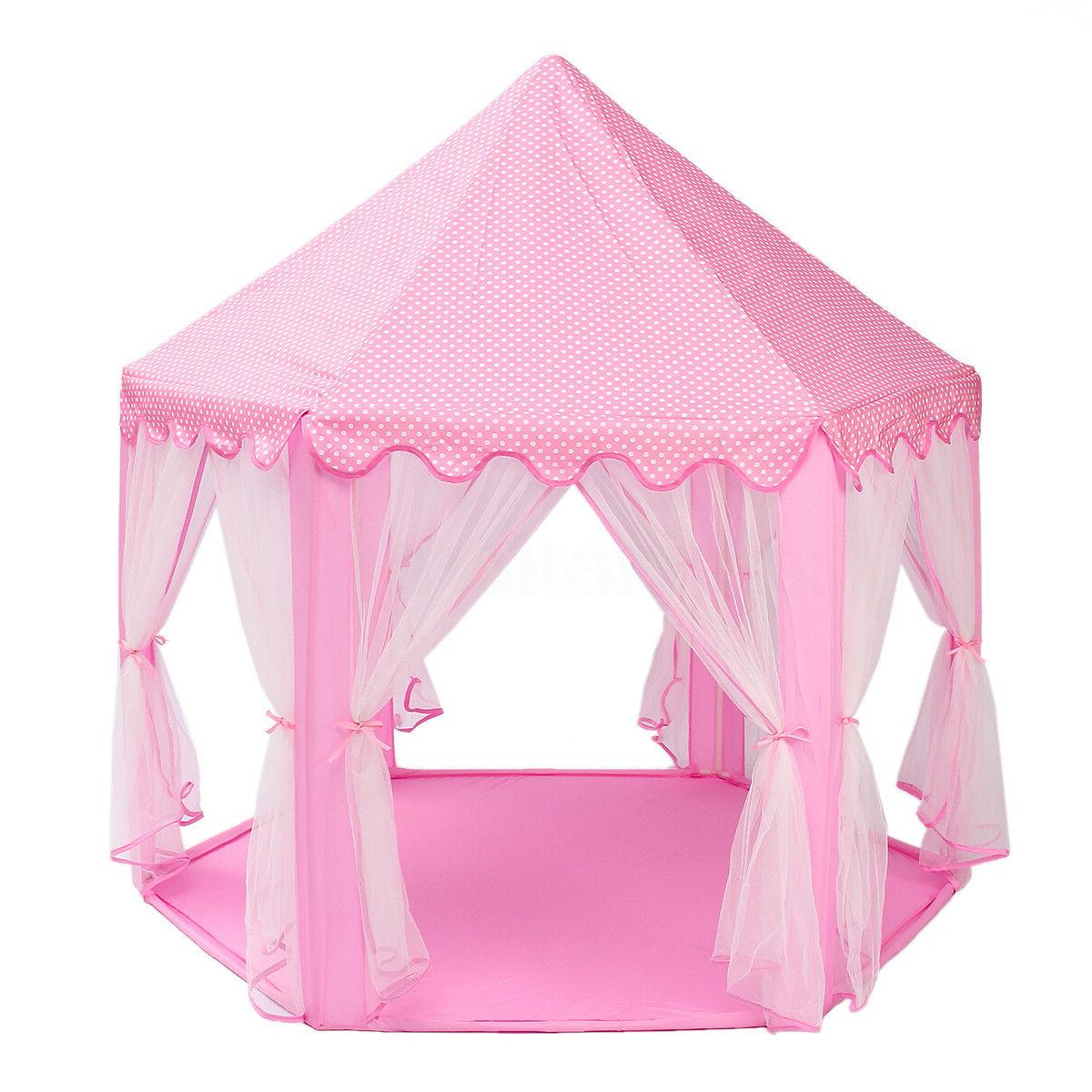 Girls Pink Cute Playhouse Play Tent Outdoor !