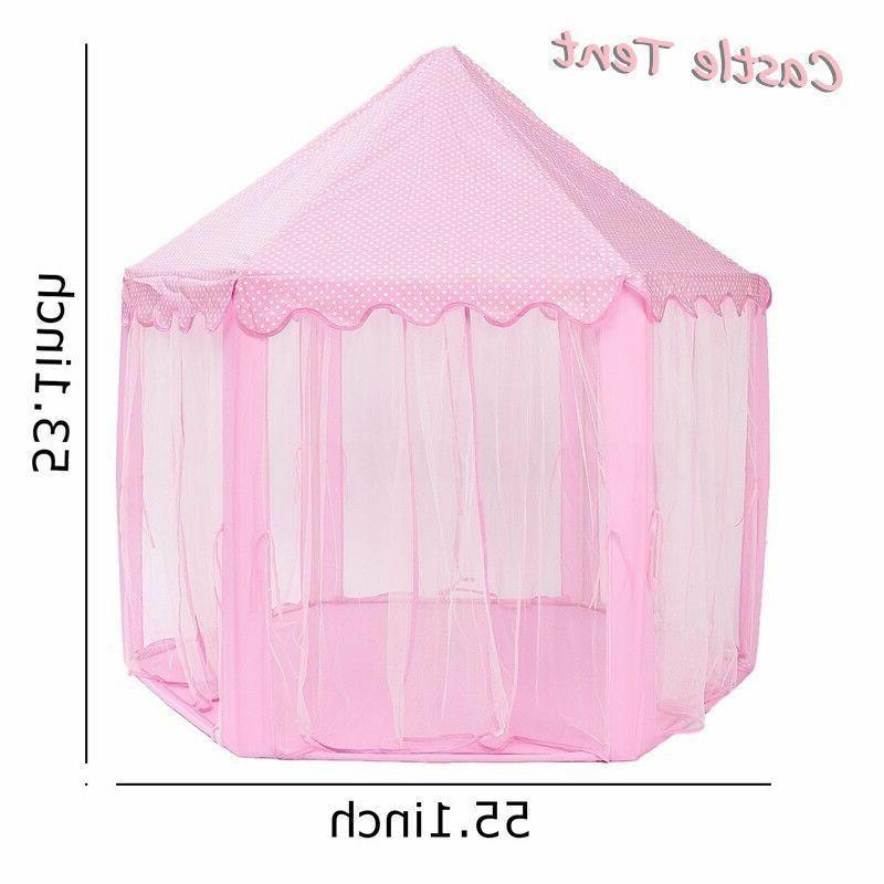 Girls Pink Play Tent Outdoor Toys !