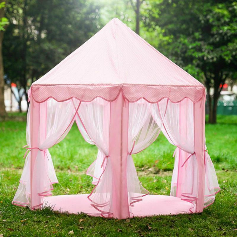 Girls Pink Princess Castle Play