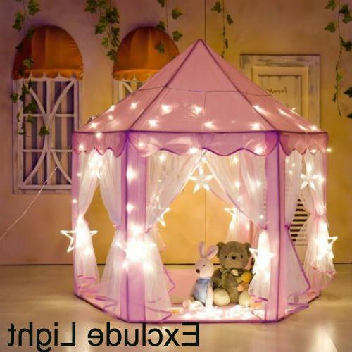 girls pink princess castle cute playhouse children