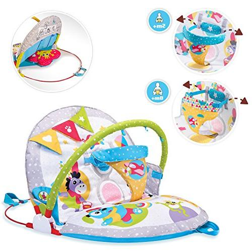 Yookidoo Gymotion Lay to Sit-Up Activity Toy for Baby 0 12 Month