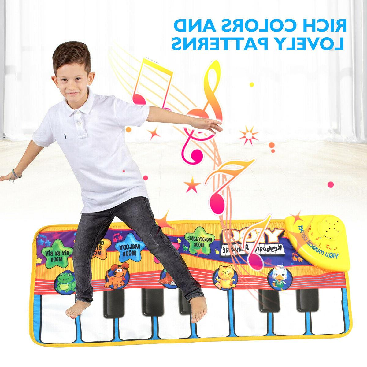 Baby Keyboard Piano Play Mat IQ Development Educational