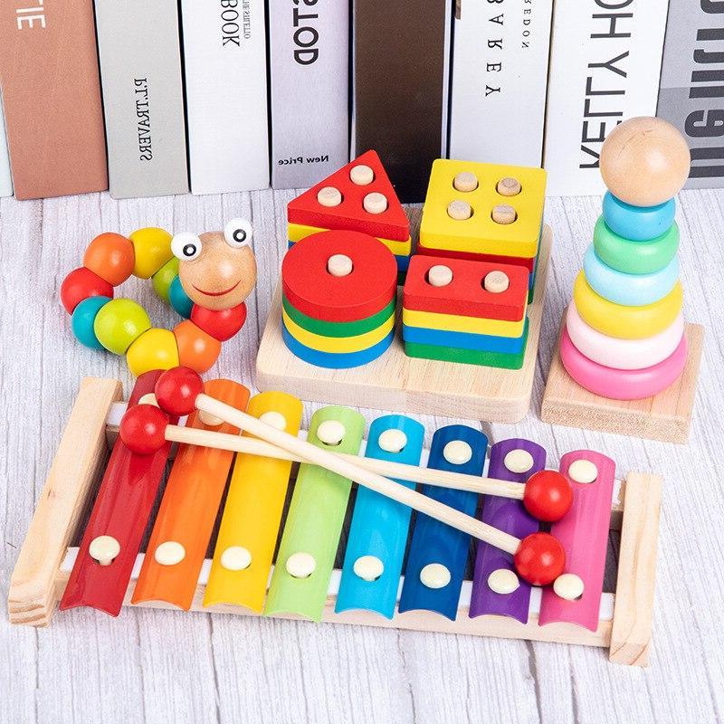 Colorful Blocks <font><b>Baby</b></font> Music Rattles Early <font><b>Toys</b></font> For <font><b>Baby</b></font>