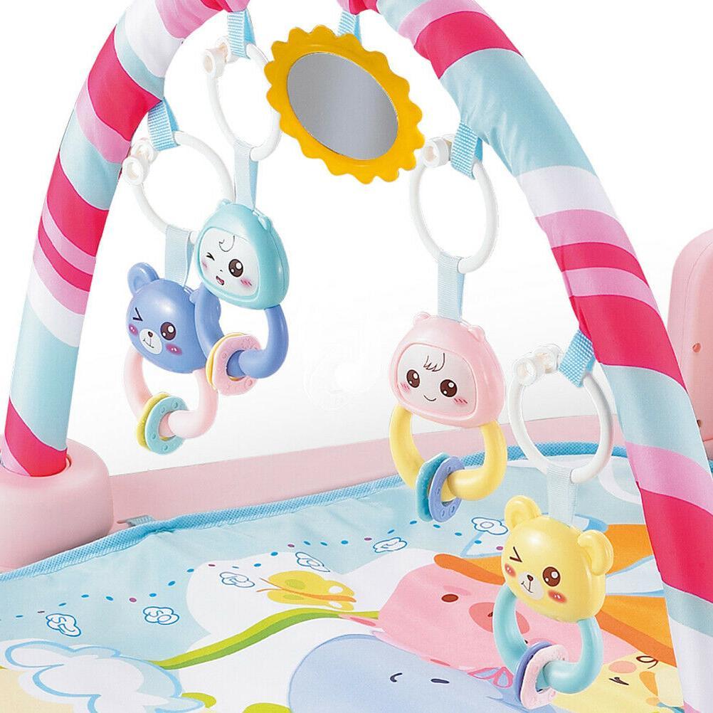 Infant Baby Activity Gym Playmat Carpet Floor Rug Mat Toddler Kid Play Toy Set