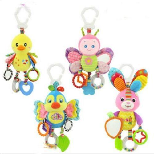 infant baby rattles soft stroller hanging bell