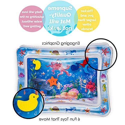 Splashin'kids Inflatable Tummy Premium Infants & is Perfect Activity Your Stimulation Growth