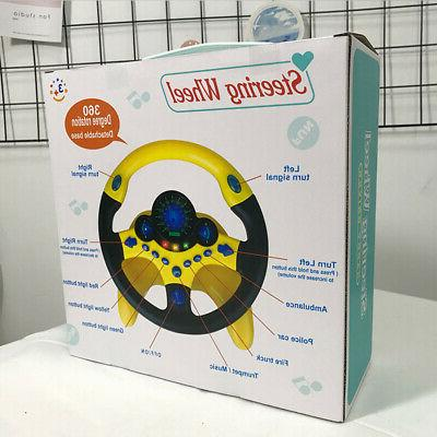 Kids Simulated Wheel Racing Driver Educational Sound Toys