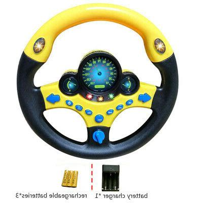 Kids Simulated Copilot Steering Wheel Racing Driver Sound