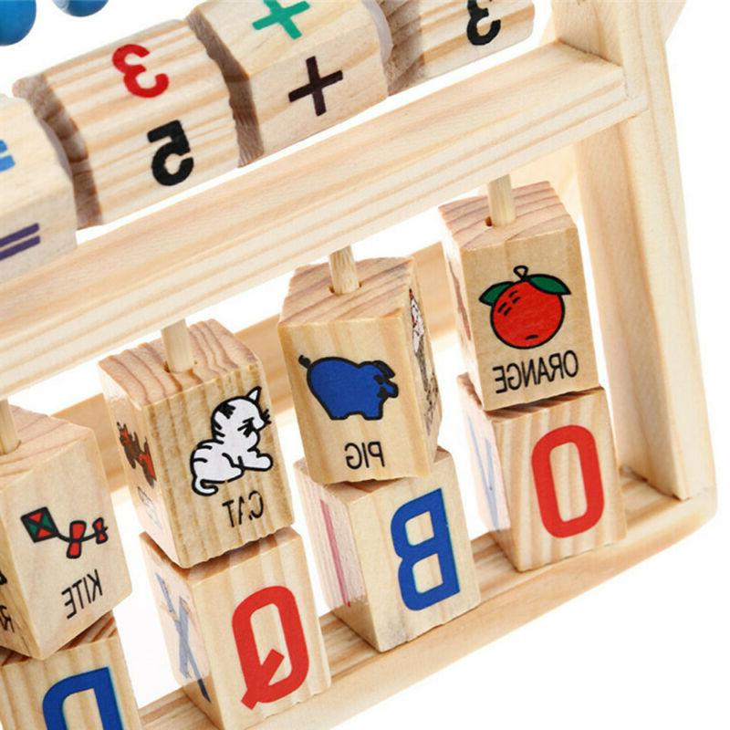 Kids Baby Creative Early Educational Abacus Wooden