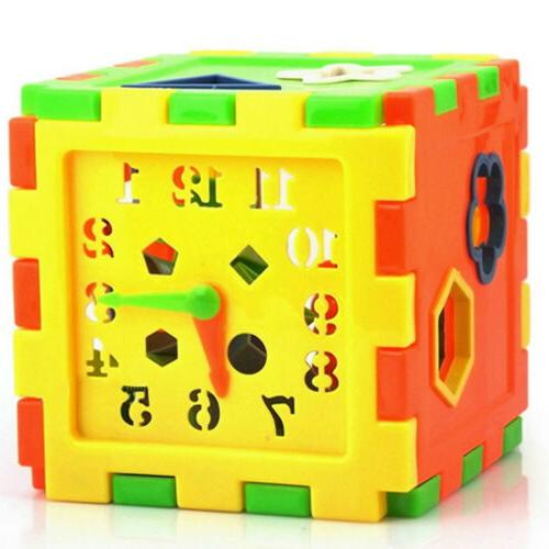 kids intelligence box cube shape color recognition