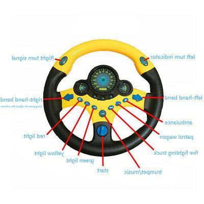 Kids Simulated Copilot Wheel Driver Sound Kit