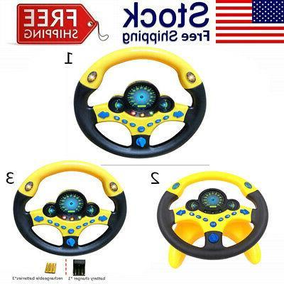 kids simulated copilot steering wheel racing driver