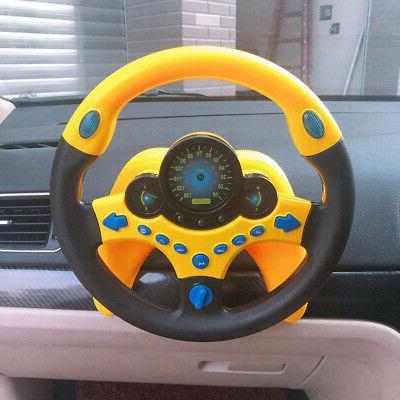 kids children simulated copilot steering wheel racing