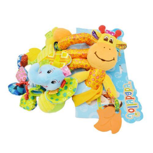 Kids Spiral Wrap Around Crib Bed Bassinet Rail Toys US