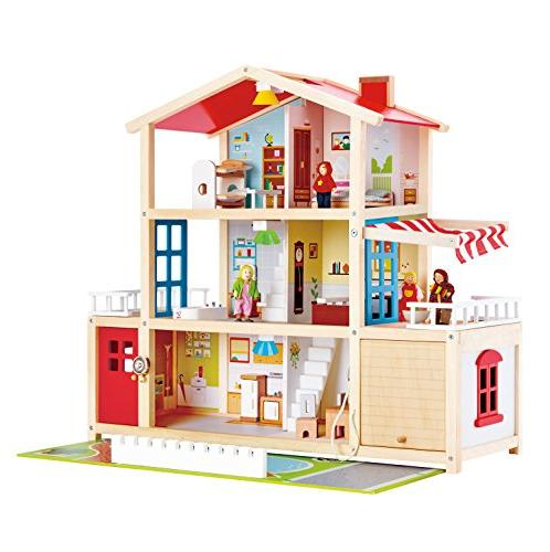kids wooden doll family mansion