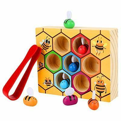 Kunmark Toddler Bee Hive Preschool Wooden Toys,Bee Toy, Todd