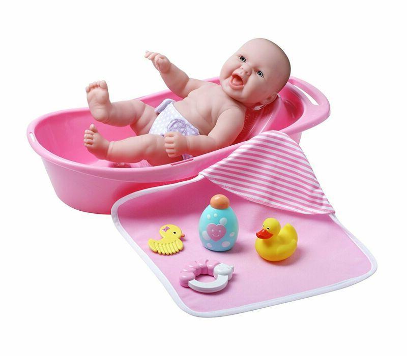 Jc Toys La Newborn Realistic Baby Doll Bathtub Gift Set Feat