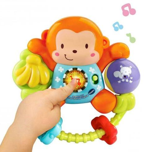 VTech Monkey Rattle Baby 35 Sound Shake for Play