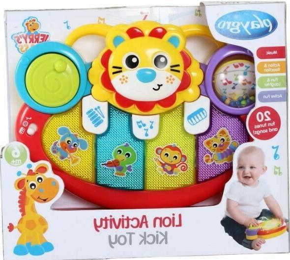 lion activity kick toy for baby infant