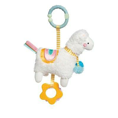 llama clip on baby travel and teething