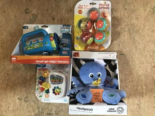 lot of 4 new baby toys octoplush