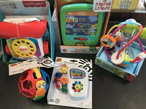 lot of 5 new baby toys bright