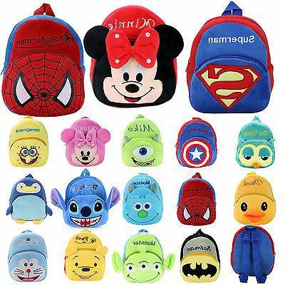 minnie spiderman baby kids mini backpack cartoon