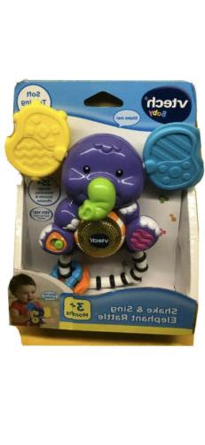 New VTech Baby Toy Toddler 3+ Months Musical Elephant Shake