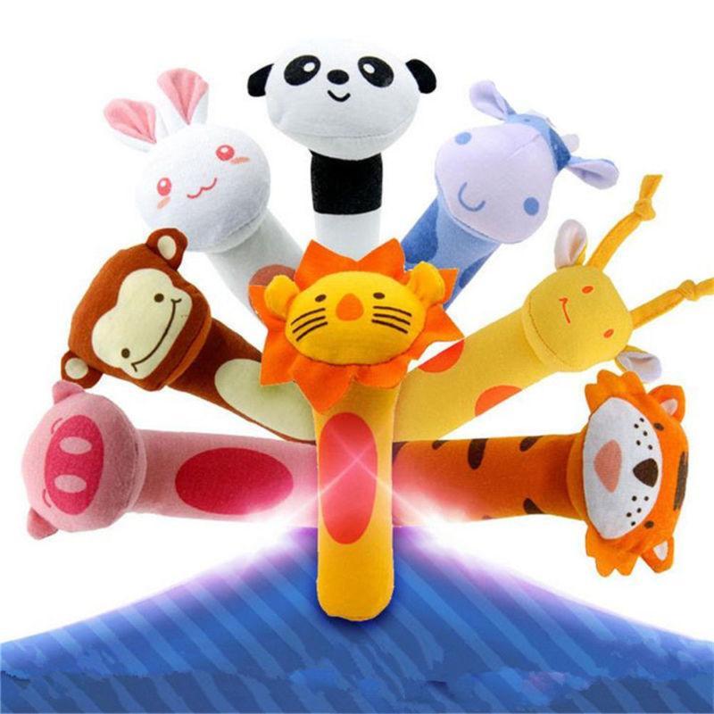 Newborn Baby Kids Animal Plush Rattles Sound Educational Toys