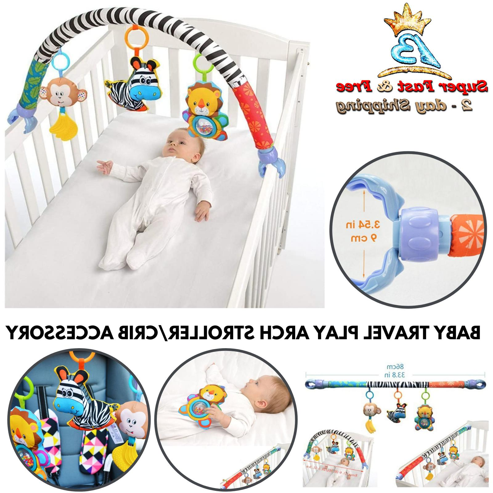 newborn learning activity arch take along toys