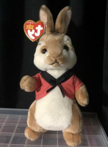 nwt beanie baby peter rabbit flopsy rabbit