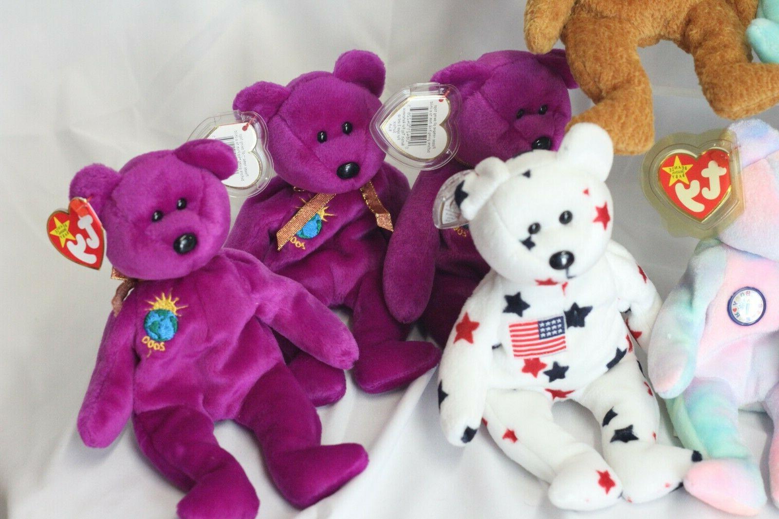 Ty Original Bears Lot Plush Toys Including Rare Germania