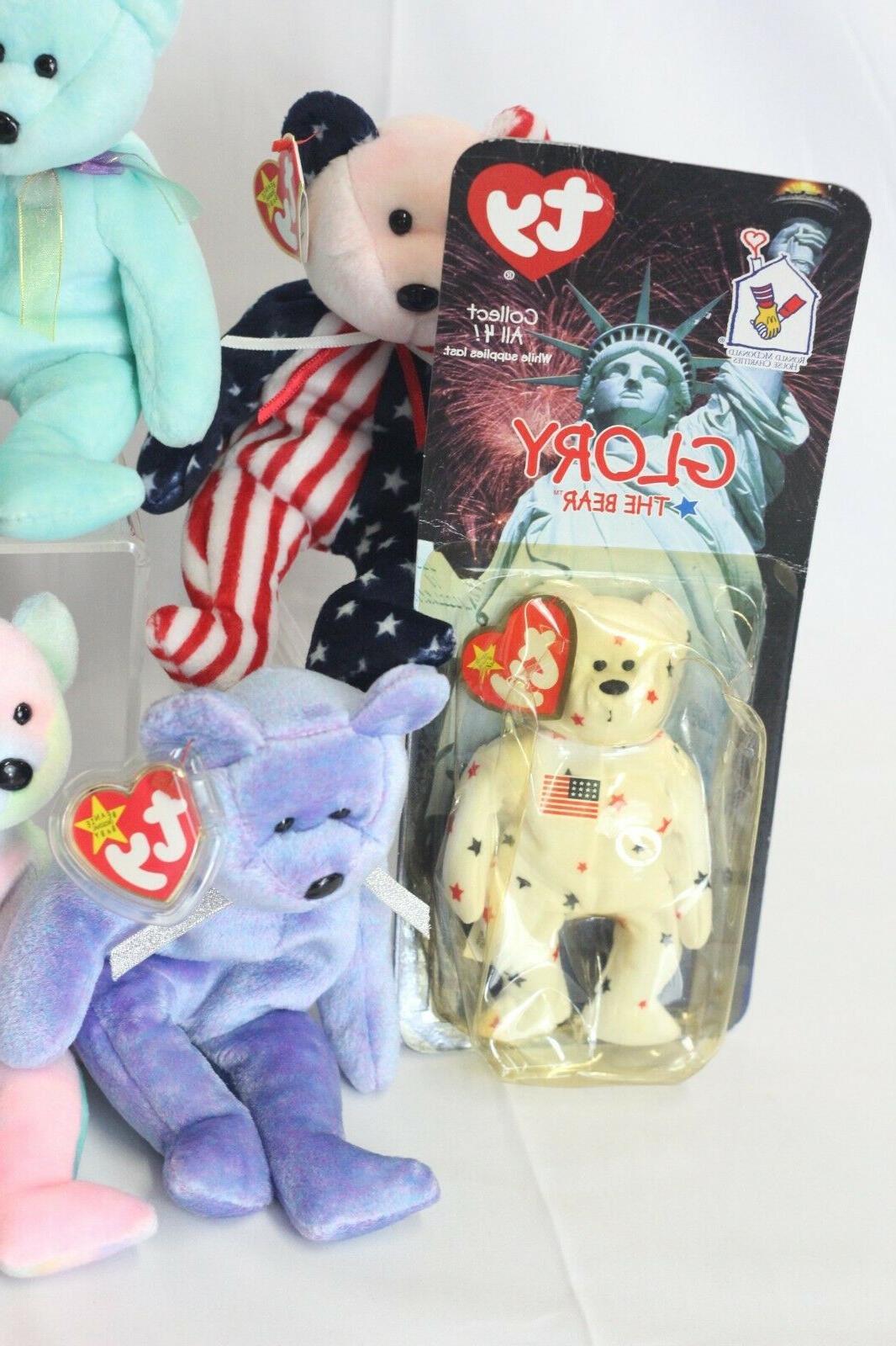 Ty Beanie Babies Bears 9 Plush Including Germania